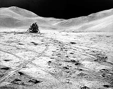 NASA Apollo 15 Lunar Module on Moon Photo Print for Sale