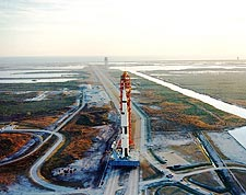 NASA Apollo 9 Spacecraft Launch Pad Rollout Photo Print for Sale