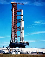 NASA Apollo 9 Spacecraft on Launch Pad Photo Print for Sale