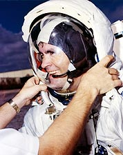NASA Astronaut Fred Haise EVA Training Photo Print for Sale