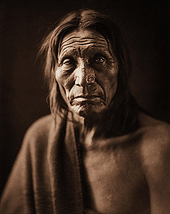 Native American Big Head Edward S. Curtis Photo Print