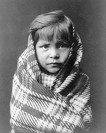Navajo Indian Child Edward S. Curtis 1905 Photo Print