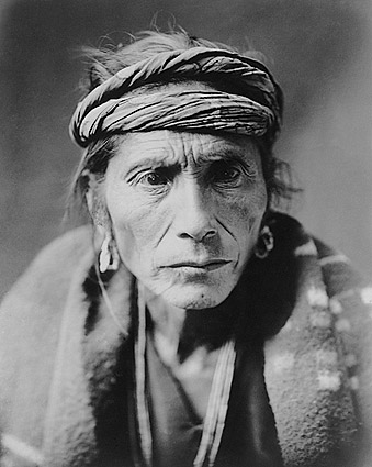 Navajo Indian Man Edward S. Curtis Portrait Photo Print