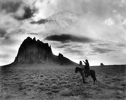 Navajo Indian on Horse, Shiprock New Mexico Photo Print