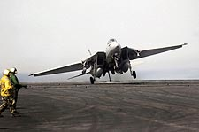 Navy F-14 Bounty Hunters VF-2 Hard Landing Photo Print for Sale