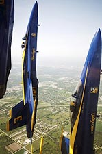 Navy F-18 Blue Angels Vertical Formation Photo Print for Sale