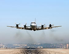 Navy P-3 Orion Patrol Aircraft Take Off Photo Print for Sale