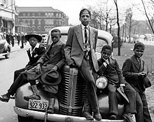 Negro Boys Easter Morning in Chicago 1941 Photo Print for Sale