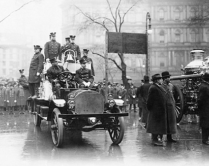 New York City 1913 Firefighters Fire Truck Photo Print