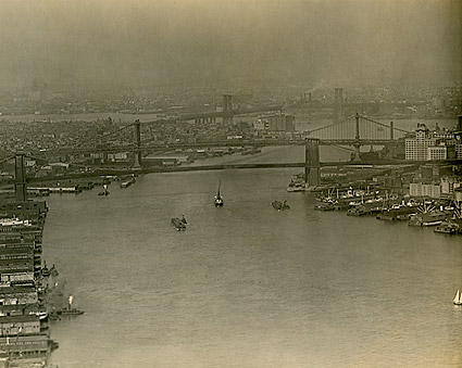 New York City East River 1920 Photo Print