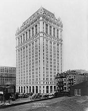 New York City West Street Building, 1907 Photo Print for Sale