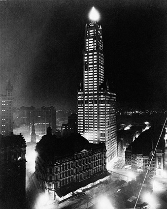 New York City Woolworth Building at Night Photo Print