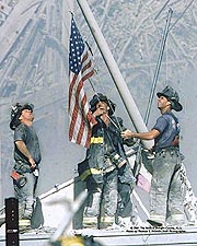 New York Firefighters Raising Flag 9/11 NYC Photo Print for Sale