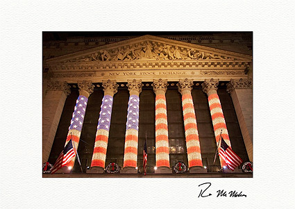New York Stock Exchange Patriotic Boxed Christmas Cards