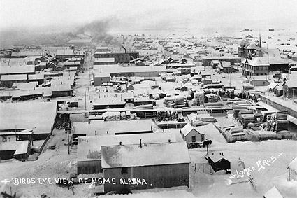Nome, Alaska with Snow Early 1900s Photo Print