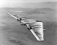Northrop YB-49 Flying Wing in Flight Photo Print for Sale