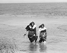 Nuns Clamming in Long Island Toni Frissell Photo Print for Sale