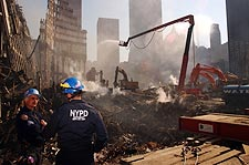NYPD Emergency Services Unit Ground Zero 9/11 Photo Print for Sale