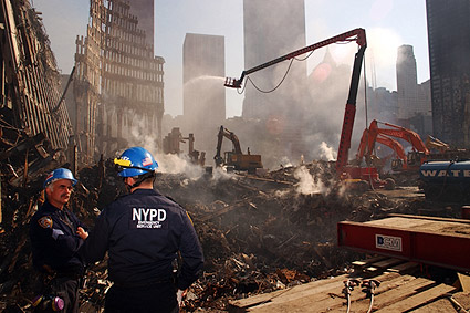 NYPD Emergency Services Unit Ground Zero 9/11 Photo Print