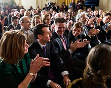 Obama Senior Advisor David Plouffe at East Room Ceremony Photo Print for Sale