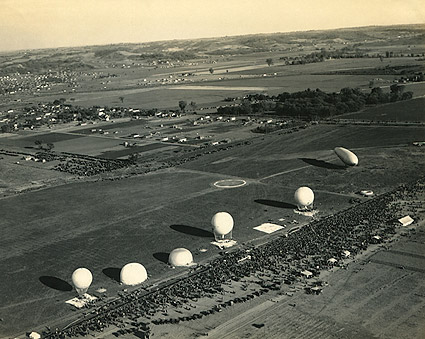 Observation Balloons and Airship at Base in France WWI Photo Print