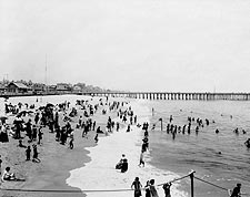Ocean Grove Beach New Jersey Seashore 1904 Photo Print for Sale