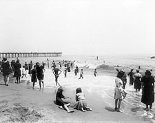 Ocean Grove Seashore Beach Crowd NJ 1904 Photo Print for Sale