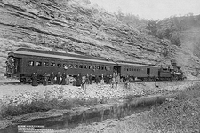 Old West 1891 Steam Train and Passengers Photo Print