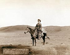 Old West Cowboy Hunter w/ Antelope 1888 Photo Print for Sale