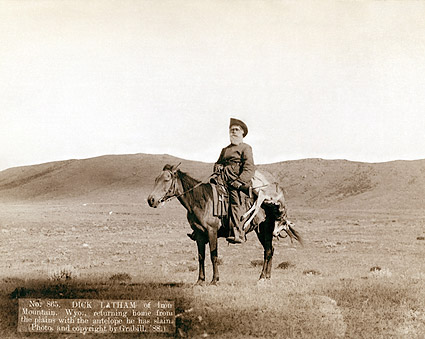 Old West Cowboy Hunter w/ Antelope 1888 Photo Print