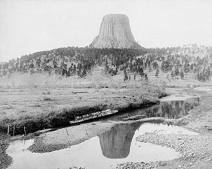 Old West Scenic 1890 Devils Tower Wyoming Photo Print