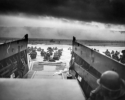 Omaha Beach US Troops WWII D-Day 1944 Photo Print