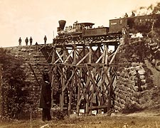 Orange & Alexandria Railroad Bridge, 1865 Photo Print for Sale