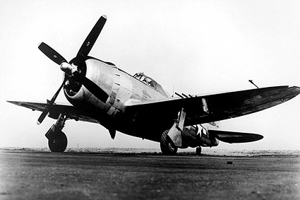 P-47 Thunderbolt Fighter Ground View WWII Photo Print
