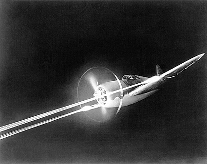 P-47 Thunderbolt in Flight w/ Tracers Photo Print
