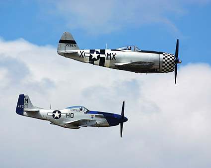 P-47 Thunderbolt & P-51 Mustang Fighters Photo Print