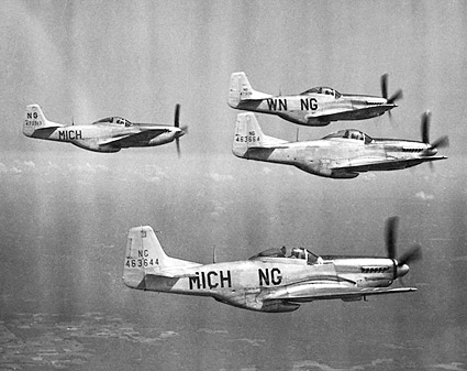 P-51D / P-51 in Flight Formation Photo Print