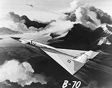 Painting of Two XB-70 Aircraft in Flight Photo Print for Sale