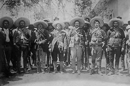 Pancho Villa with Generals Mexican Revolution  Photo Print