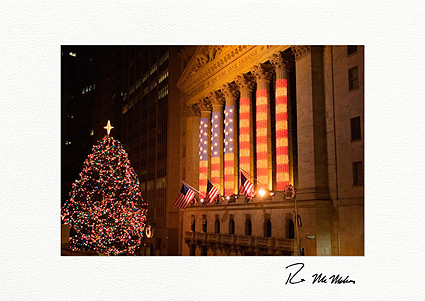 Patriotic Stock Exchange New York City Boxed Christmas Cards