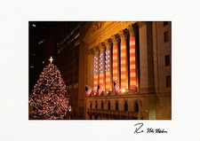Patriotic Stock Exchange New York City Personalized Christmas Cards