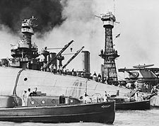 Pearl Harbor Rescue of USS Oklahoma Sailors Photo Print for Sale