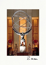 Personalized Atlas Rockefeller Center New York City Christmas Cards
