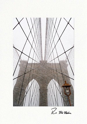 Personalized Brooklyn Bridge Christmas Holiday Cards