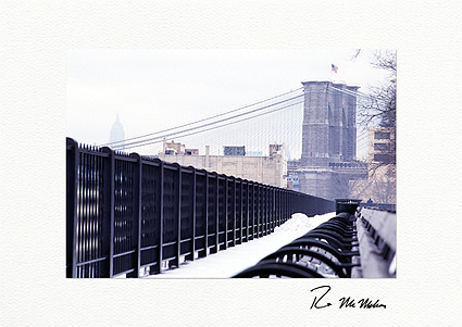 Personalized Brooklyn Bridge to the Empire State Building, New York City Holiday Cards
