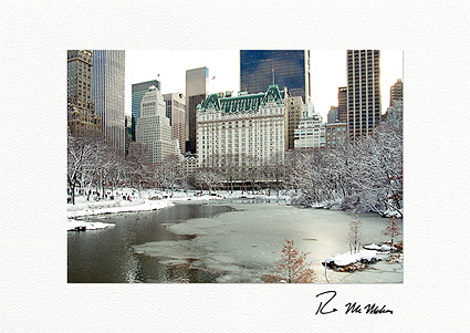 Personalized Central Park South New York City Christmas Cards
