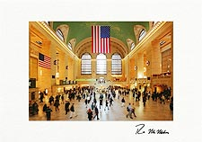 Personalized Grand Central Station Holiday Wreaths Greeting Cards