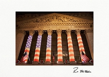 Personalized New York Stock Exchange Patriotic Christmas Cards