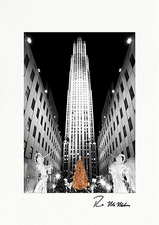 Personalized Rockefeller Center Christmas Tree Holiday Cards