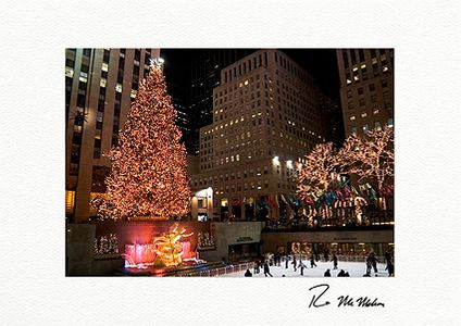 Rockefeller Center Skating Rink and Christmas Tree Individual Holiday Cards